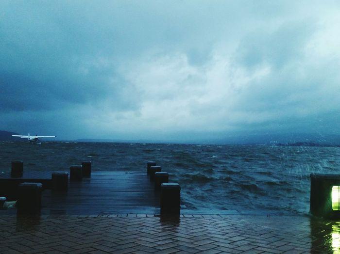 Miserable day Windy Day Rainy Days Waves Sky And Clouds Blue Lake Lake Rotoroa NZ The Week On Eyem