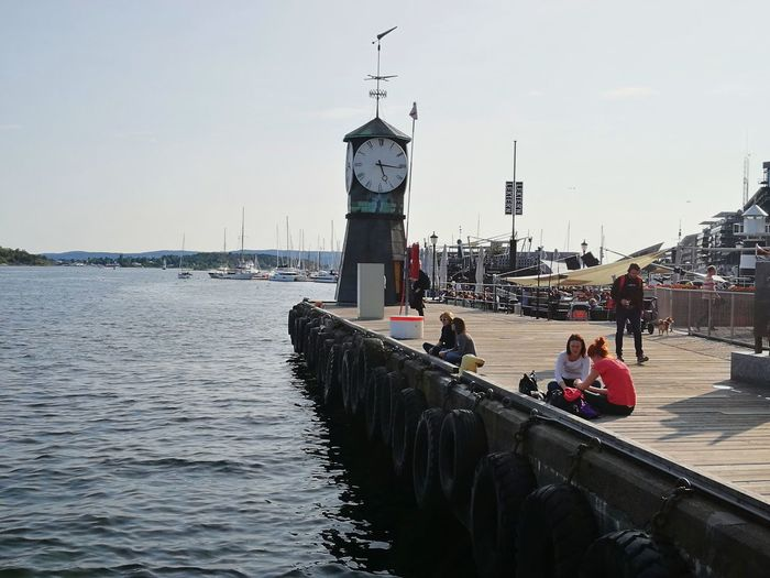 Water Pier Day Outdoors Harbor Oslo Norway Oslo, Norway Summer City City Life Travel Destinations Vacations Sea Sky