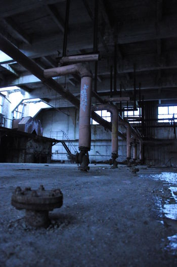 Architectural Column Architecture Built Structure Day Factory Indoors  Industry No People