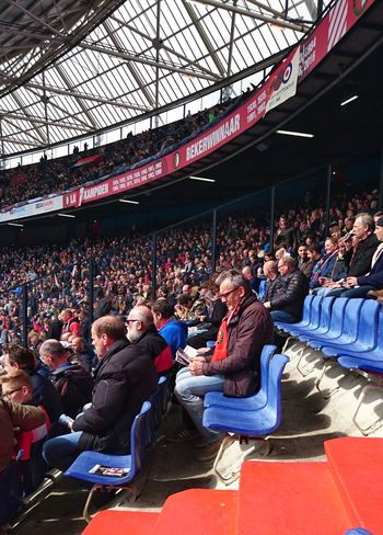 Sitting Stadium Audience People Fan - Enthusiast Watching Crowd Togetherness Seat Netherlands De Kuip (c) 2017 Shangita Bose All Rights Reserved Feyenoord Rotterdam From My Point Of View Rotterdam Before The Game Supporter From My Point Of View. Spectator Stadium Architecture Football Feyutr