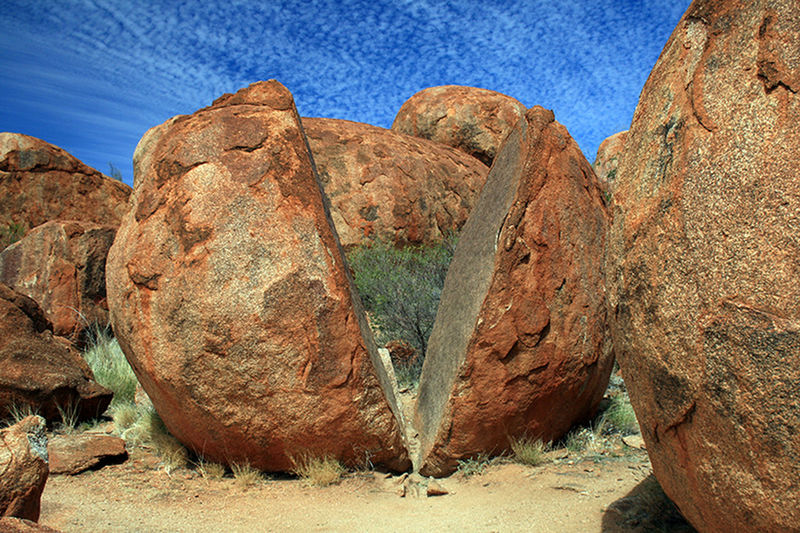 Blue Sky Devils Marbles Marble Nature No People Outback Outbackaustralia Outdoors Sky Sky And Clouds