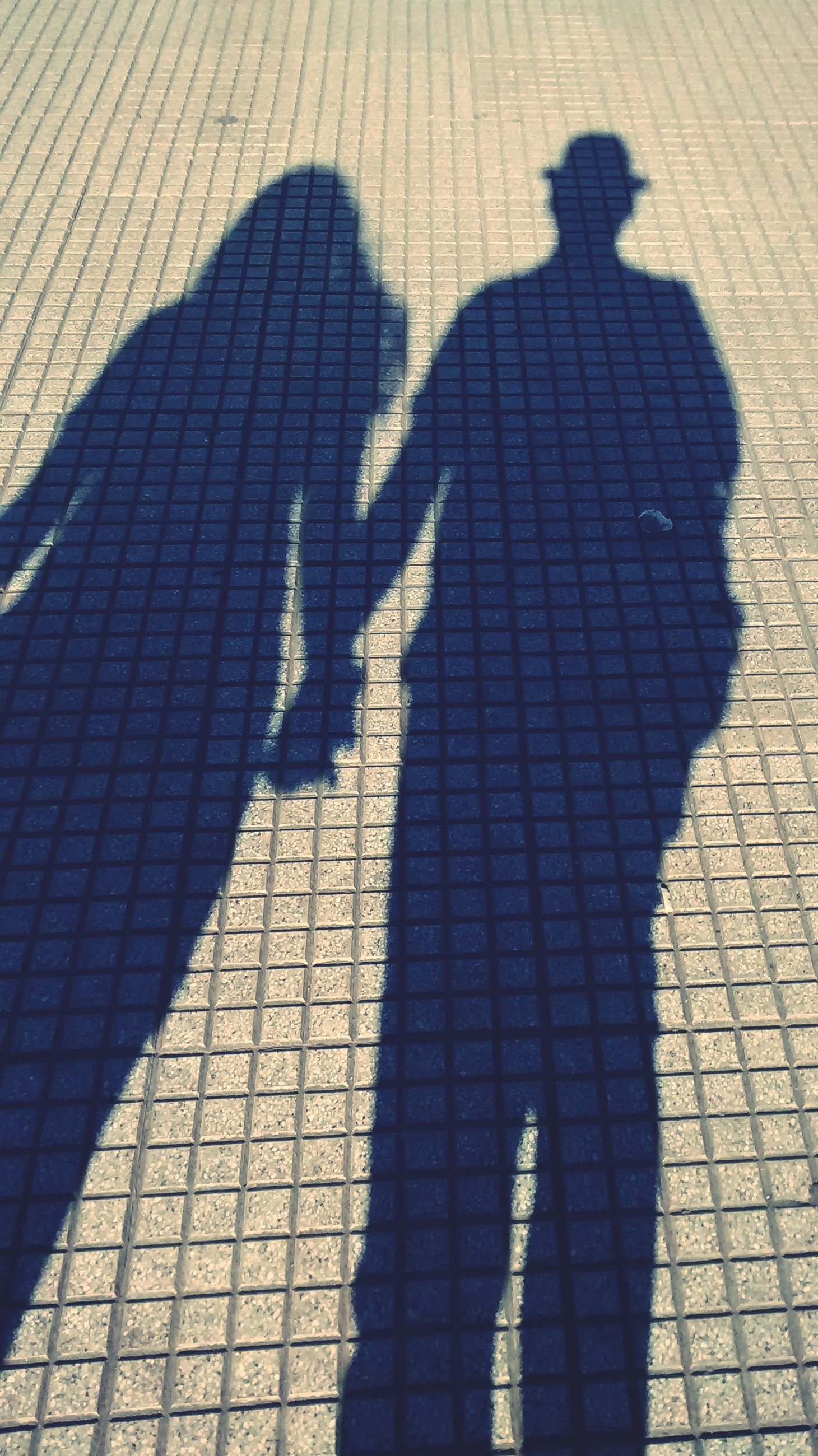 shadow, two people, real people, high angle view, men, togetherness, love, sunlight, bonding, nature, day, lifestyles, focus on shadow, positive emotion, people, adult, women, emotion, couple - relationship, leisure activity, outdoors, long shadow - shadow, paving stone