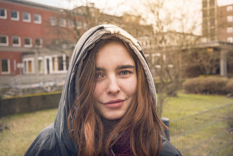 Lucky Architecture Beautiful Woman Building Exterior Confident  Hairstyle Headshot Hood Leisure Activity Lifestyles Long Hair Looking At Camera Nature One Person Outdoors Portrait Real People Smile Street Teenager Urban Young Adult