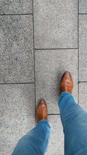 Man Walking Pavement Pavements Walk Walking Around The City  City Life Men's Shoes Strawling Walking Around Walking Streetphotography Street Photography Fresh On Eyeem  Hello World Jeans Fashion Men's Fashion Two Is Better Than One
