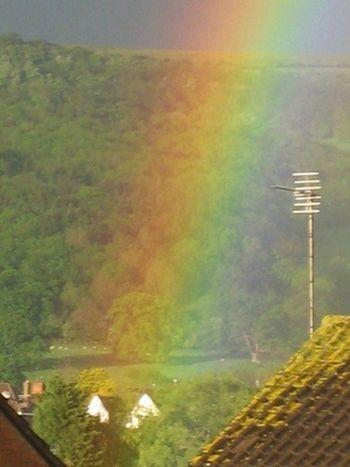 Beauty In Nature Illuminated Rainbow