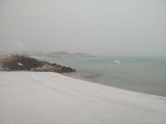 Beach Beauty In Nature Day Gabbiano Horizon Over Water Marina Di Pulsano Nature Neve Sul Mare No People Outdoors Puglia South Italy Sand Scenics Sea Sky Tranquility Water