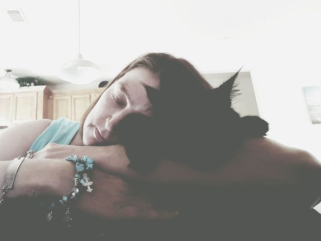 Night night, Sleep Tight Sleeping Snuggling Kitty Sleeping Cat Snuggles Resting Working Hard Companion