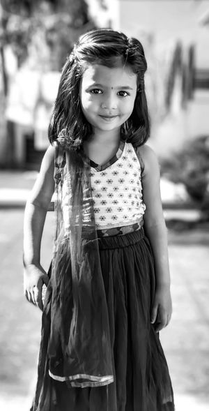 Portrait Child Childhood Friendship Beauty Standing Smiling Girls Beautiful People Looking At Camera Fashion Show Fashion Industry Womenswear Model Catwalk - Stage Haute Couture Evening Gown Cocktail Dress Monochrome Sleeveless Dress Artist's Model Jewellery Textile Industry Textile Factory Sleeveless  Backstage My Best Photo
