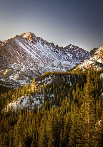 Mountain Mountain Range Snow Scenics Nature Beauty In Nature Cold Temperature Winter Landscape Tranquility No People Tranquil Scene Mountain Peak Snowcapped Mountain Wilderness Rocky Mountains Physical Geography Outdoors Sky Travel Destinations Rocky Mountain National Park Estes Park, CO Sunrise Color The Great Outdoors - 2017 EyeEm Awards