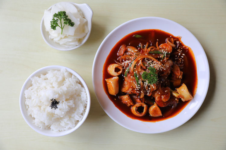 Seafood Korean Food Food Food And Drink Ready-to-eat Serving Size Soup Rice - Food Staple Meat Asian Food Meal
