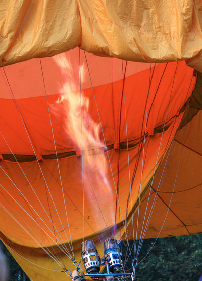 High angle view of hot air balloon