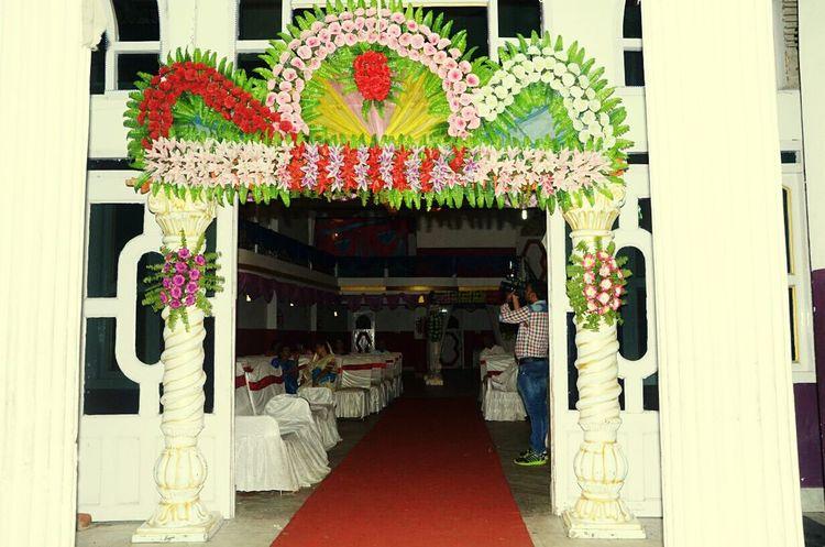 Architecture Entrance Built Structure Outdoors Main Entrance Decoration Flower