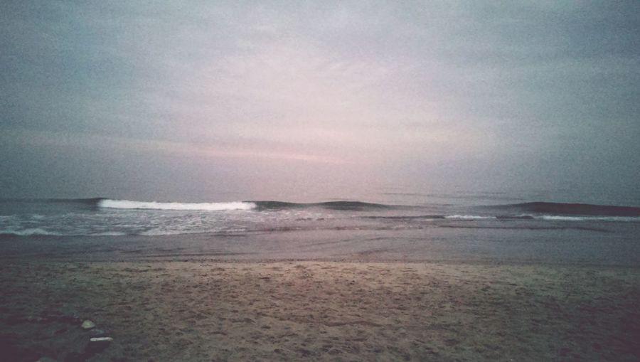 Dänemark dunkler Strand 23:30 Horizont  Nordseeküste Dark Denmark Beach Northsea