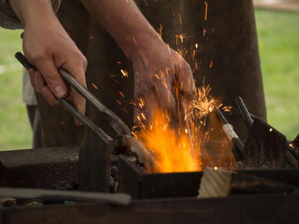 Forge  Medieval Men Metal Industry Work