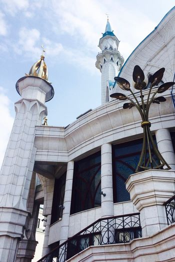 Architectural Feature Architecture Built Structure Capital Cities  Church Details High Section Islam Kazan Low Angle View Mosque No People Outdoors Place Of Worship Qolsharif Religion Russia Spirituality Tourism Travel Destinations казань