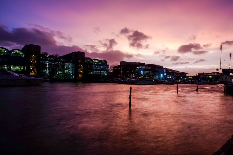 Lincoln Sunset_collection Water Reflections Architecture Boats Brayford Building Building Exterior Built Structure City Cityscape Cloud - Sky Dusk Illuminated Linconshire Nature Night No People Outdoors River Sky Sunset Travel Destinations Water Waterfront