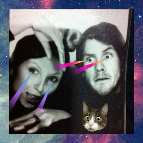 Laser Eyes , Galaxy , Cats = awesomeness