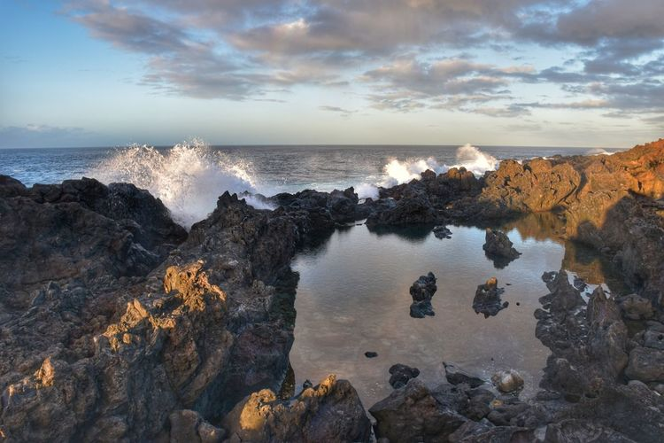 Sea Beach Sunset Outdoors No People Water Wave Nature Sky Beauty In Nature Day Nikon D5500