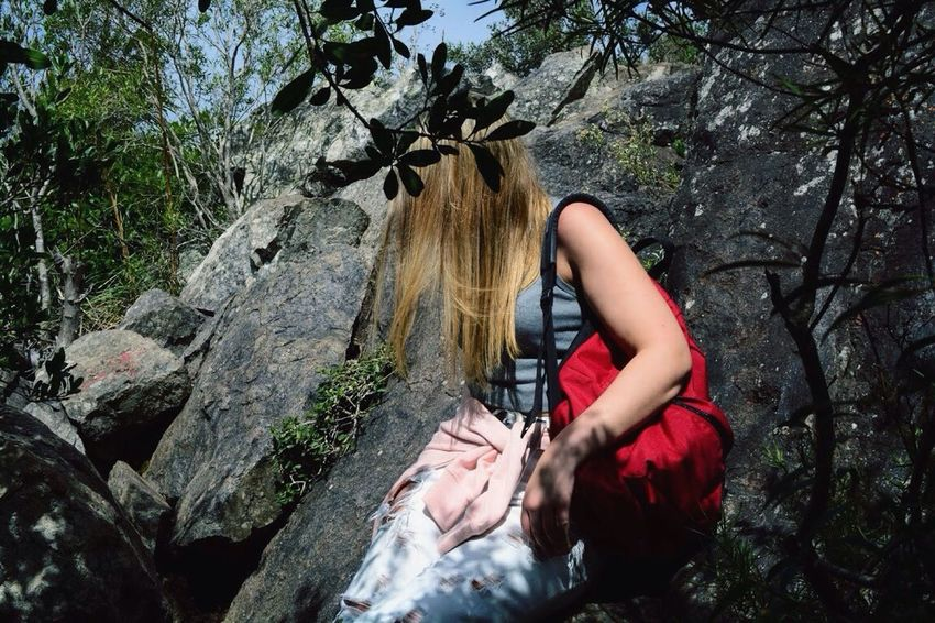 Live For The Story One Person Forest Rock Climbing Outdoors Nature