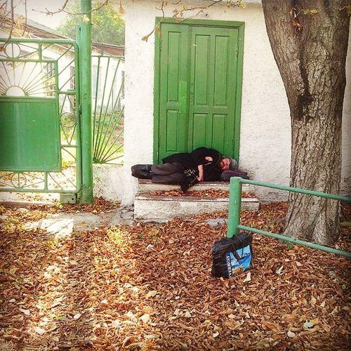 Homeless Sleepingpeople Chişinău Moldova
