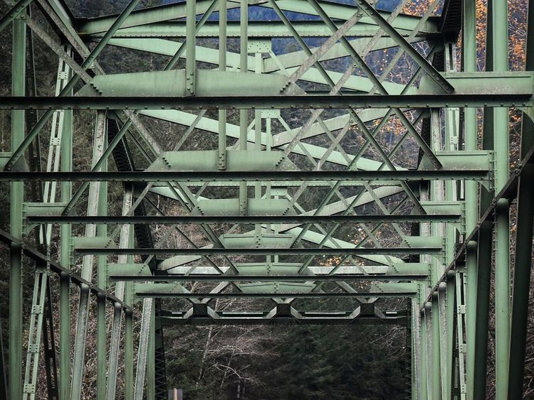 Architecture Built Structure Steps And Staircases Staircase Day Metal No People Indoors  Building Exterior Driving Out The Car Window In A Car Travel Travel Photography Traveling Water Crossing Man Made Object Pattern Bridges River River Crossing Metal Structure Bridge Green Outside Photography