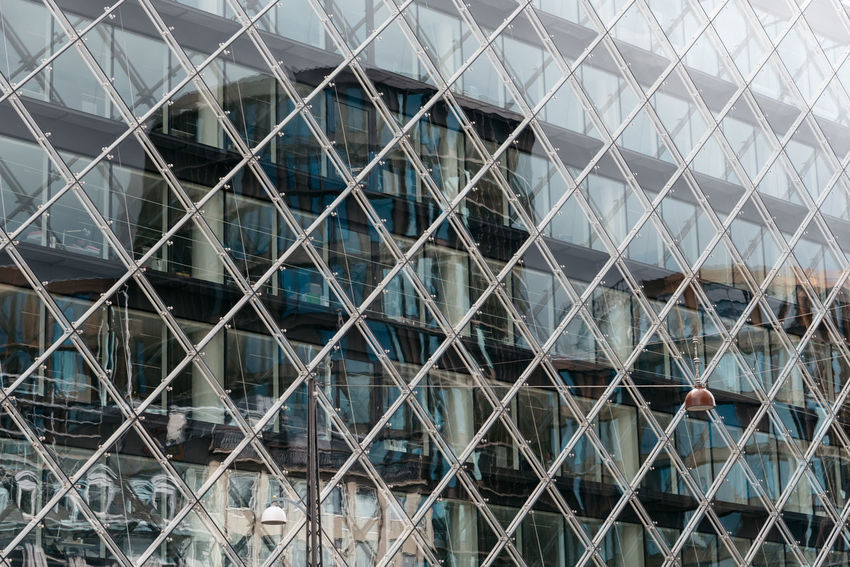Modern architecture office building detail of facaqe Architecture Backgrounds Building Exterior Built Structure Business City Curtain Walls Day Façade Full Frame Glass Modern No People Office Office Building Office Building Exterior Outdoors Pattern Real Estate Relaxing Urban Urban Skyline