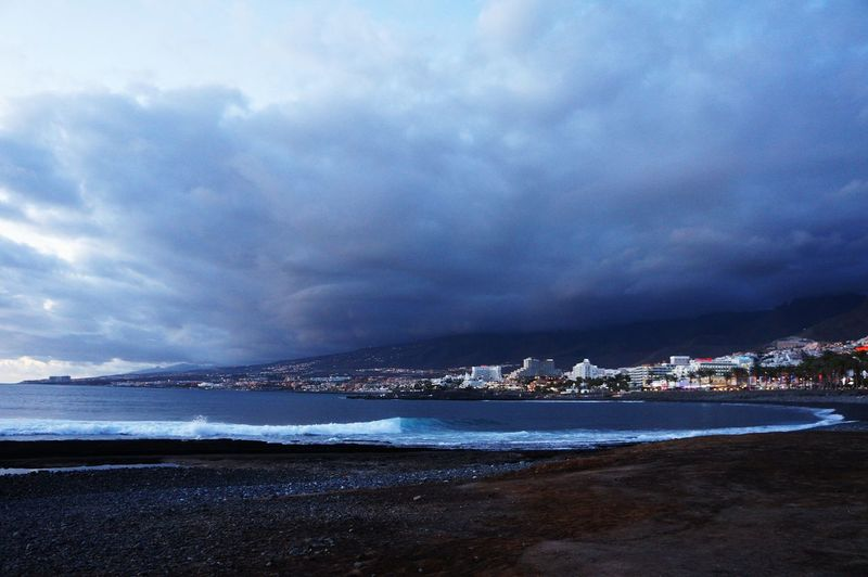 Sea Beach Beauty In Nature Nature Outdoors Cloud - Sky Water Travel Destinations No People Scenics Illuminated Sky Day Nature Travel Tenerife Vacations Beauty In Nature Storm