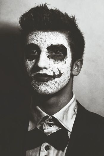 The Joker Portrait Black & White