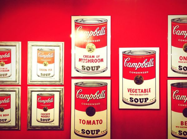 A portion of Andy. Andy Warhol Popart Campbell Soup Red Poster