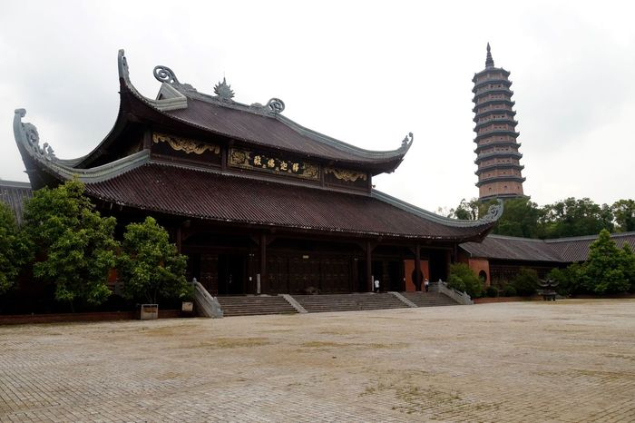 Architecture Budism Building Exterior Built Structure Clear Sky Day History Ninh Bình No People Outdoors Pagoda Place Of Worship Religion Shrine Sky South East Asia Spirituality Temple Tradition Travel Destinations Tree