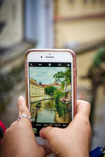 EyeEm Selects Smart Phone Photographing Human Hand July2017 Full Frame Praha ❤️ Travel Destinations Praha2017 IPhone 7 Plus