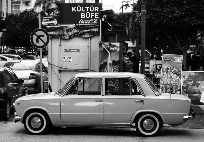 ZP Blackandwhite Black & White Black And White Photography Siyahbeyazfoto Siyah&beyaz  Car Land Vehicle No Parking Sign