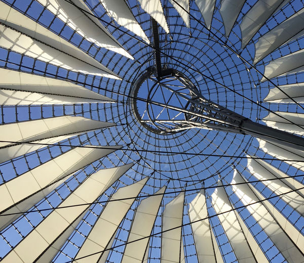 Sony center Low Angle View Built Structure Pattern Architecture Full Frame Day Modern Indoors  No People Ceiling Architectural Feature Backgrounds Design Sunlight Geometric Shape Shape Dome Transparent Skylight Directly Below Concentric Roof The Architect - 2019 EyeEm Awards