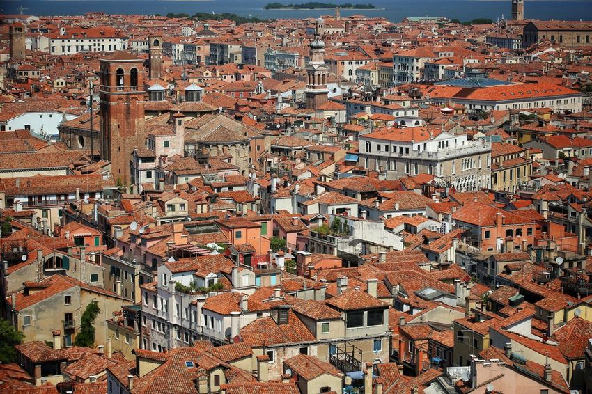 St Mark's Square St Mark's Tower St Mark's Square St Mark's Tower Venice Canals Venice, Italy Architecture Building Exterior Built Structure City Cityscape Community Crowded Day Full Frame High Angle View Outdoors People Residential Building Roof Sky Tiled Roof  Travel Destinations Venice