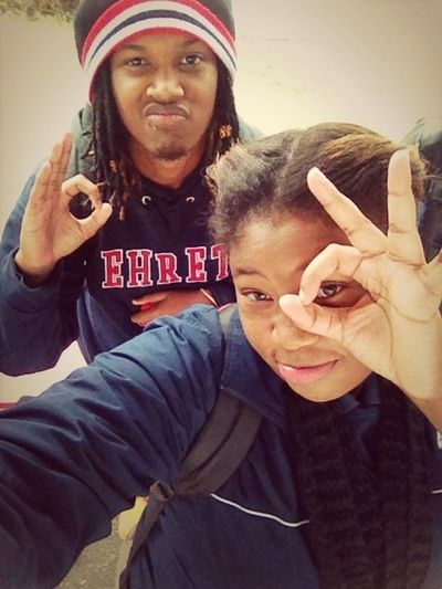 Thugging at school with my dawg