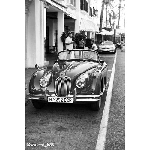 A true Classic . Beautiful JAGUAR 1958 XK150 JaguarXK150 parked at the PuertoBanus puerto_banus. marbella malaga andalusia spain españa Taken by my SonyAlpha dslr a200. Taken in my 2012 summer trip ماربيا اسبانيا كلاسيك جاغوار