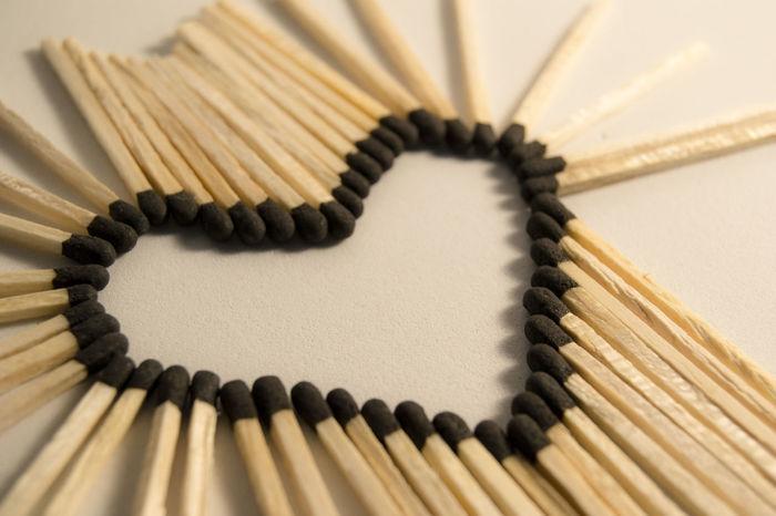 Love Abstract Art And Craft Backgrounds Creativity Design Heart Heart Shape Heart ❤ Lovelovelove Matches Matches Photography Matchstick No People Studio Shot The Still Life Photographer - 2018 EyeEm Awards