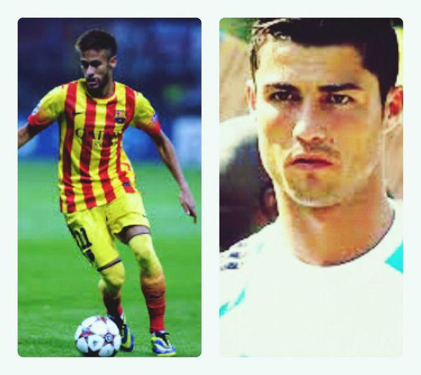 Love these two!!!!^.^ Soccerislife Cristiano RONALDO Neymar Jr Followme!