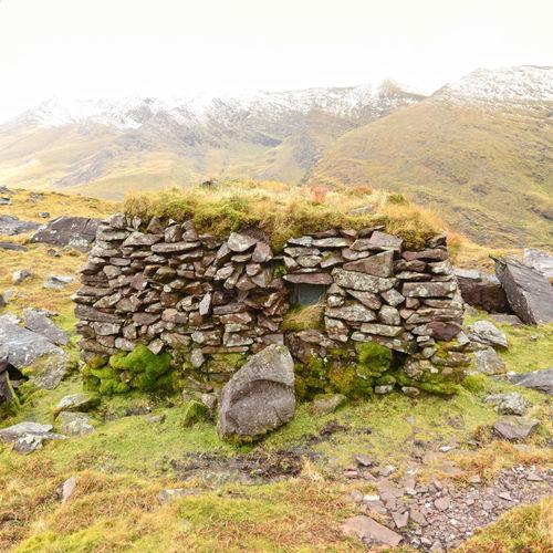 Carrauntoohil Ireland Grass Roof Hut Mountain Mountain Range Mountain Rescue Outdoors Shelter Stone Walls