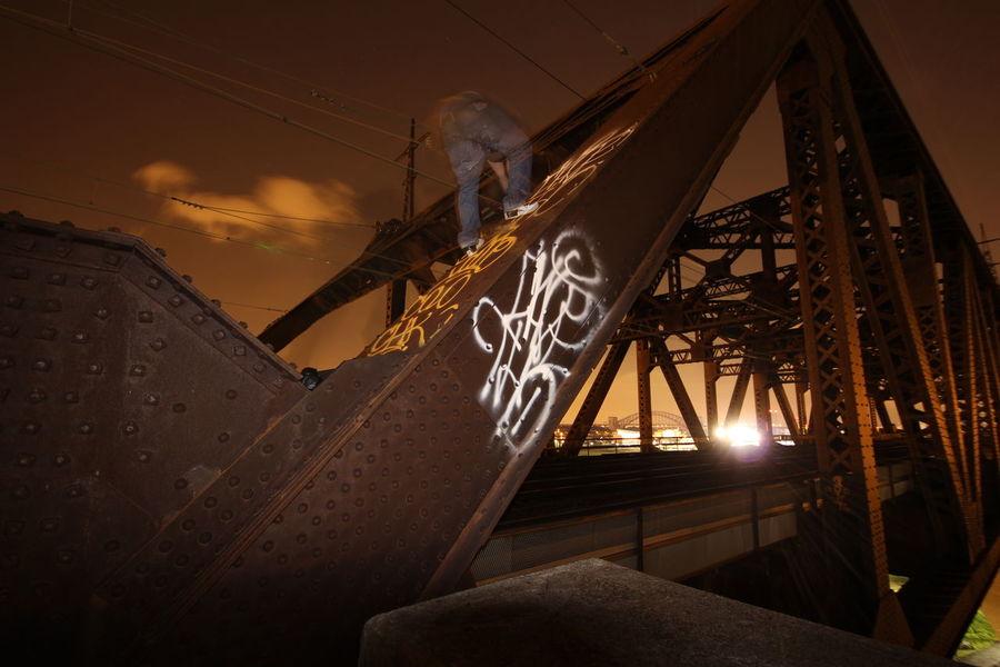Hells Gate Bridge New York Urbex Bridge Nightphotography Night Graffiti Slow Shutter