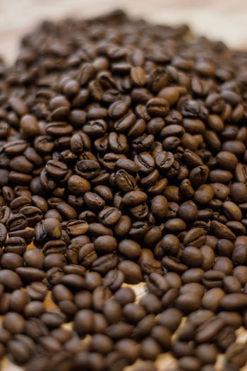 Food And Drink Food Coffee Coffee - Drink Brown Roasted Coffee Bean Large Group Of Objects No People Close-up Indoors  Abundance Freshness Roasted Still Life Drink Caffeine Selective Focus Backgrounds Seed Scented