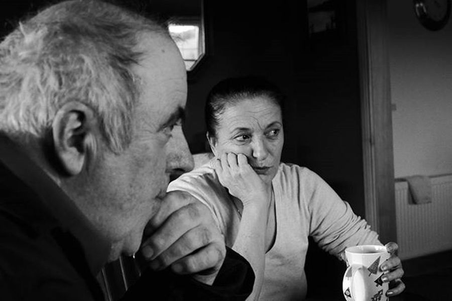 Conversations Monochrome Up Close Street Photography People Talking Black And White Telling Stories Differently