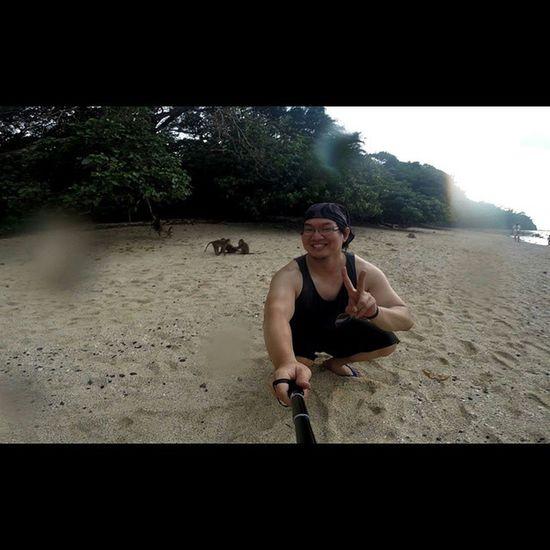 Val  2015  Pangandaran Trip gopro gopro3 goproblackedition gopro_4life beach PhotoGrid monkey
