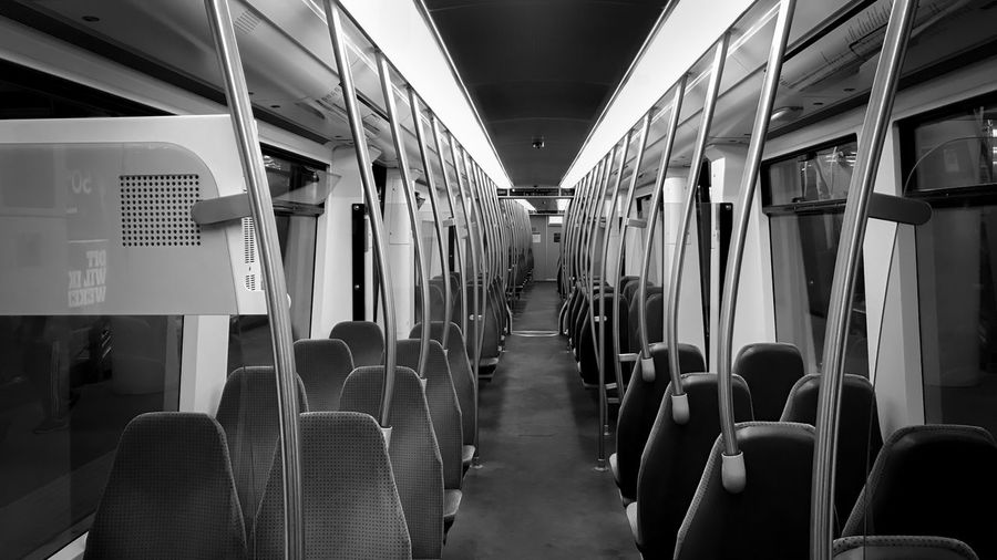 Empty Seats In Subway Train