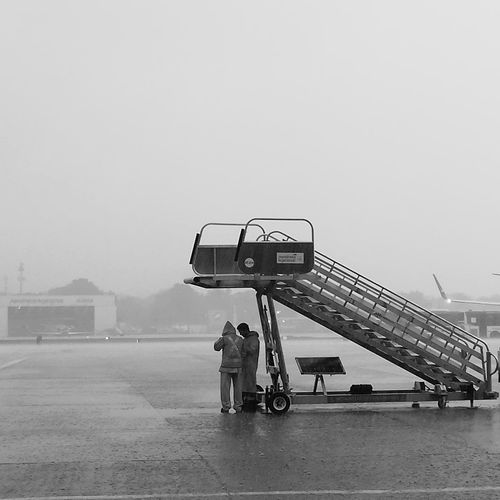 Moments Of Life Working Hard Airportphotography Rampagent Rainy Days Oil Pump City Full Length Sky Go Higher
