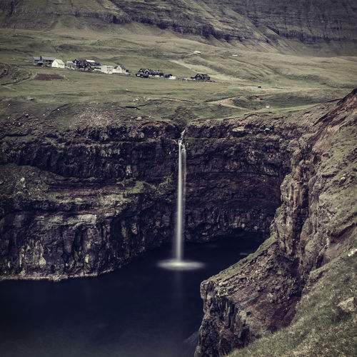 Gasadalur Beauty In Nature Faroe Faroe Islands Faroeislands Färöer Land Landscape Mountain Nature No People Non-urban Scene Scenics - Nature Tranquil Scene Tranquility Travel Destinations Water Waterfall