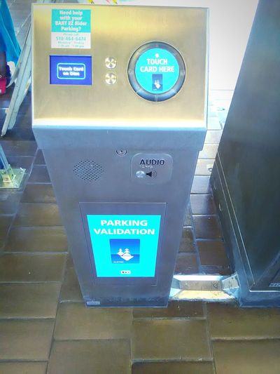 Ticket Machines Bart Station Transportation My Photography My Commute Parking Validation Validated