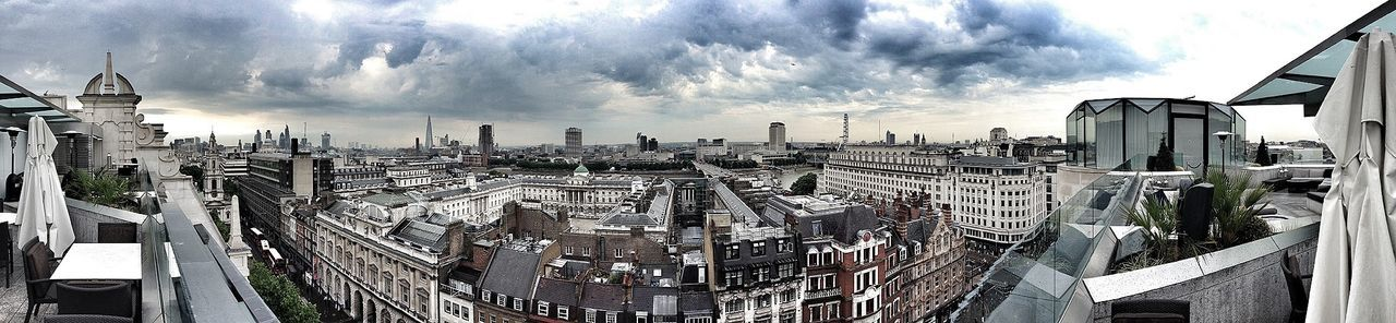 This morning's amazing view from my London Out Of Office Panoramic London Architecture Urban Landscape