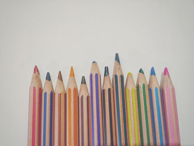What will you draw? Still Life White Paper Simplicity Negative Space White Background Top Down Pencils Colouring Pencils Colours Drawing Colouring  Ad Space Copy Space