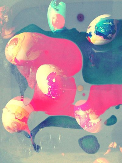 Easter Easter Eggs Colorful Abstract Photography Collage Splash Of Colors Pink Color Spring Time Painting Creativity Multi Colored Art Product Paint